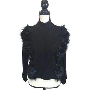 ZARA Women's Black Turtleneck Sweater